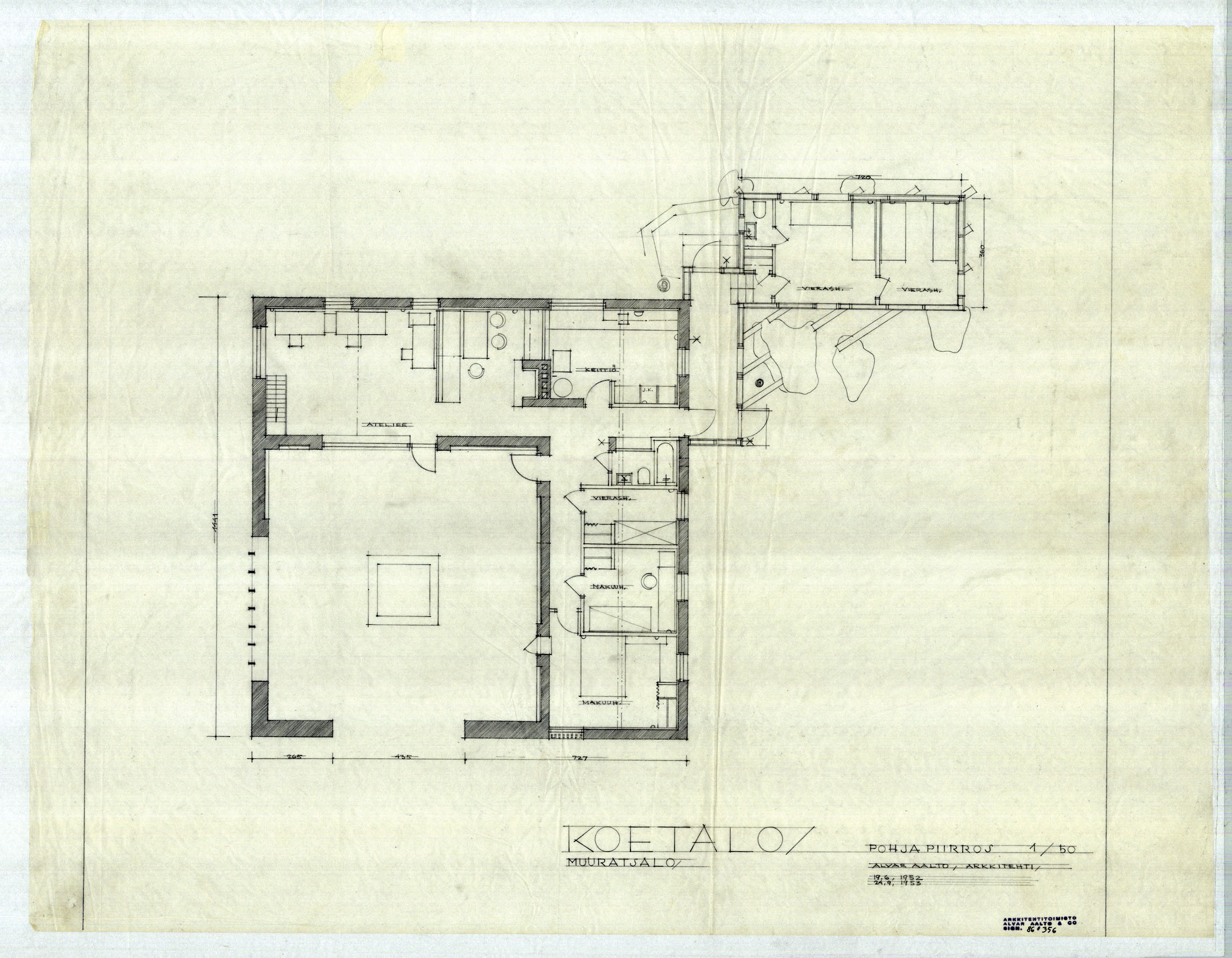 architectural drawings of the muuratsalo experimental house - Alvar Aalto House Plans