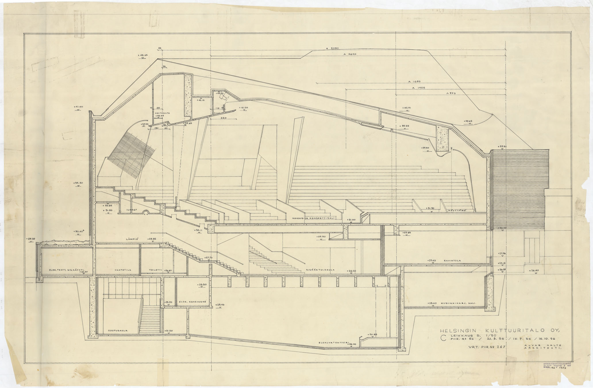 architectural drawings of the house - Alvar Aalto House Plans