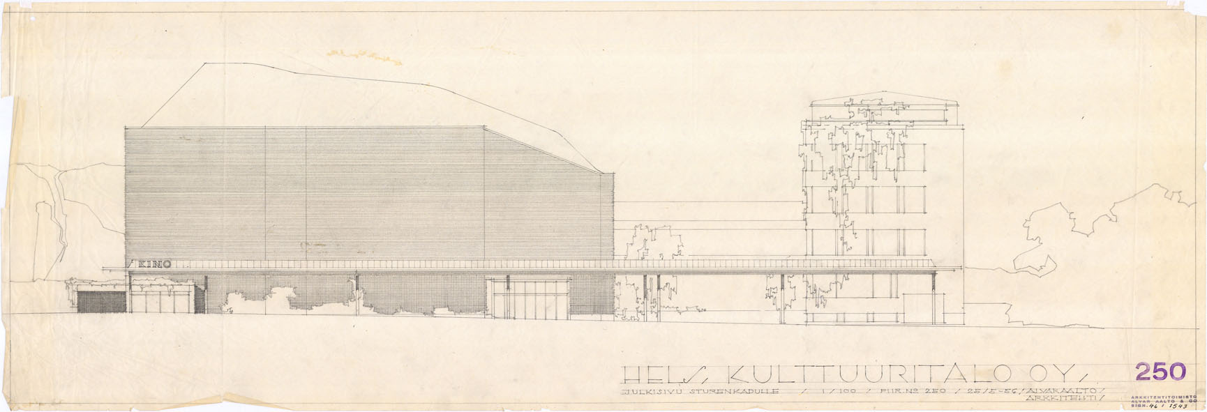 Architectural drawings of the House of Culture
