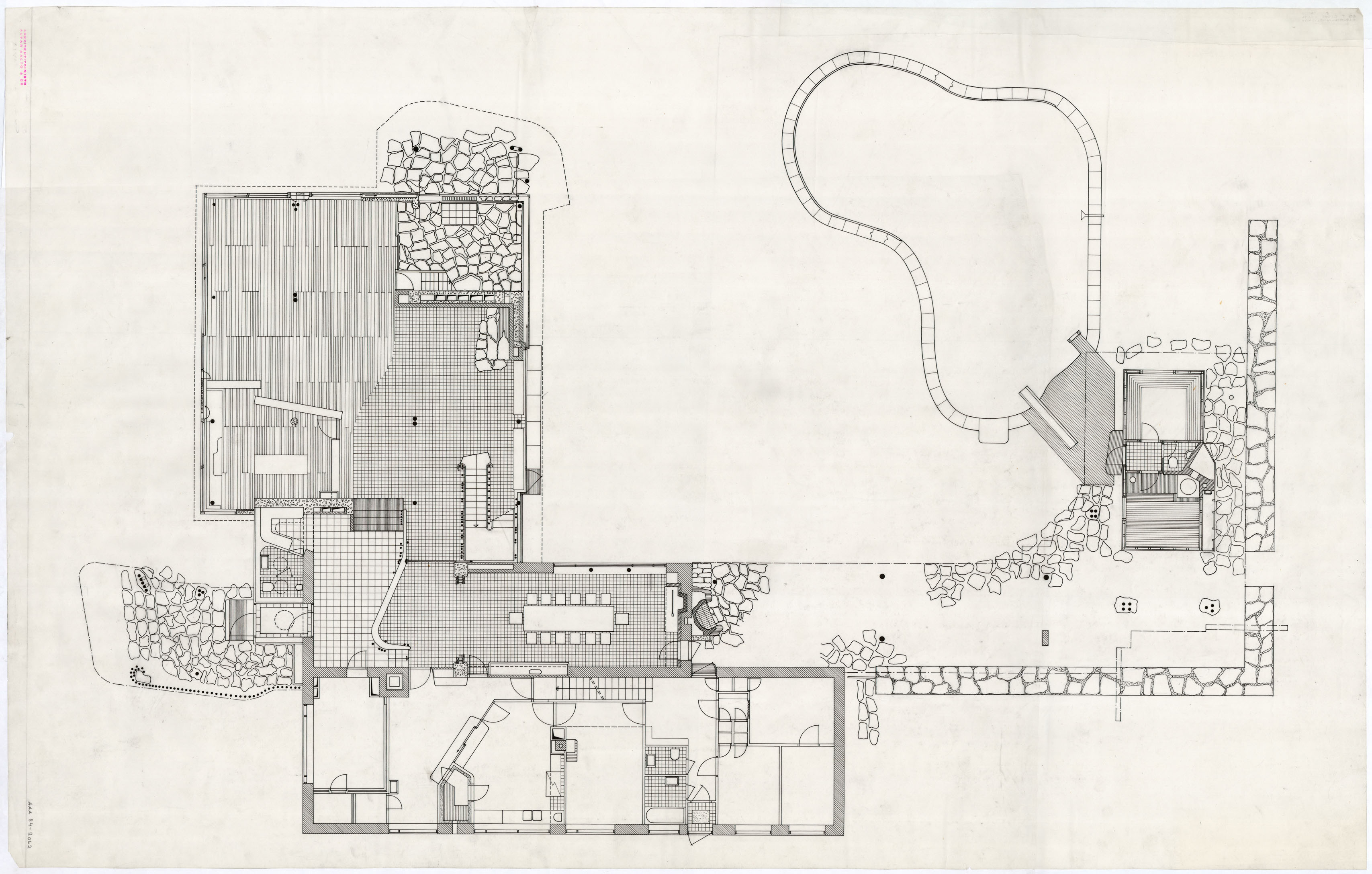 House Floor Plan With Measurements Architectural Drawings Of The Villa Mairea Alvar Aalto Shop