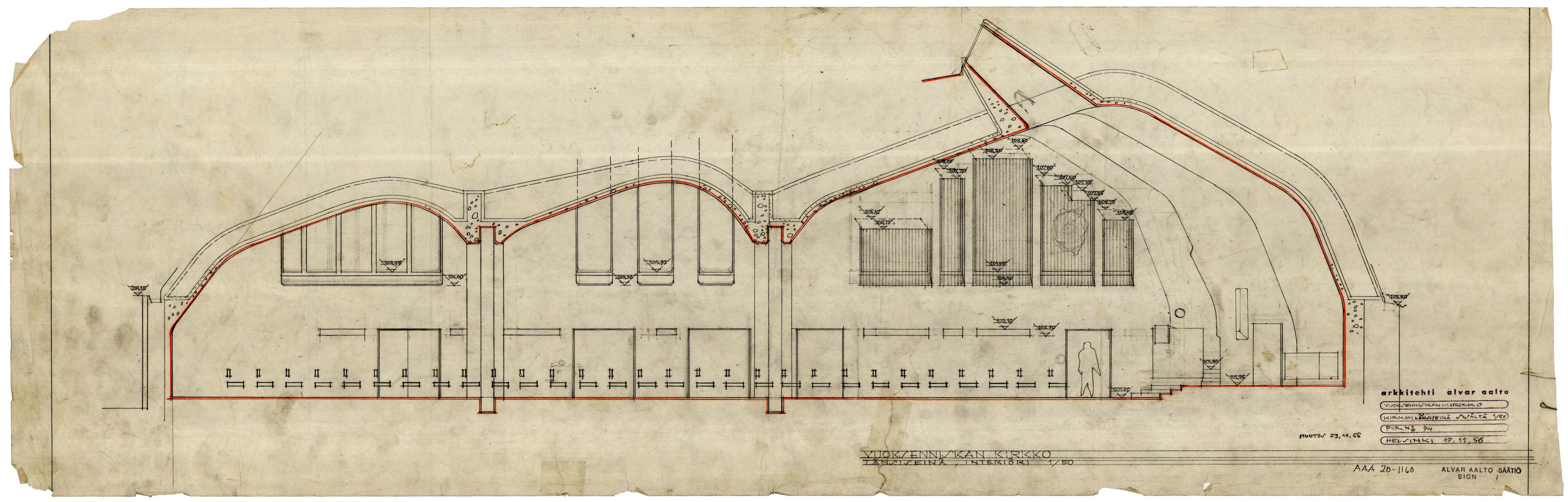 Architectural Drawings Of The Villa Mairea Alvar Aalto Shop