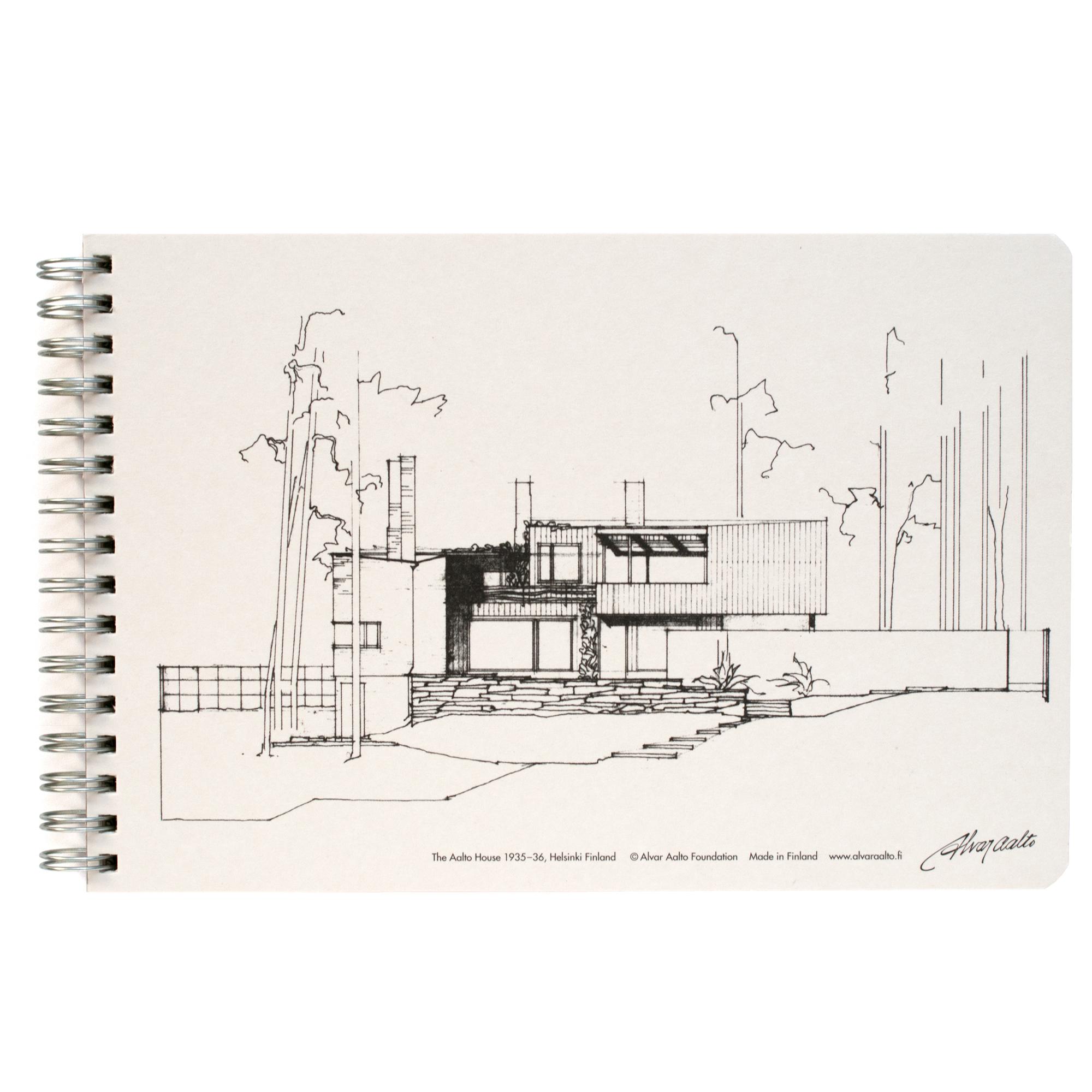 Sketch book the aalto house white alvar aalto shop for The aalto house